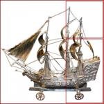 modellino-veliero-metallico-su-ruote