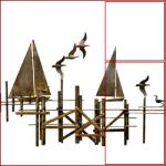 scultura-barche-a-vela-con-molo-e-gabbiani